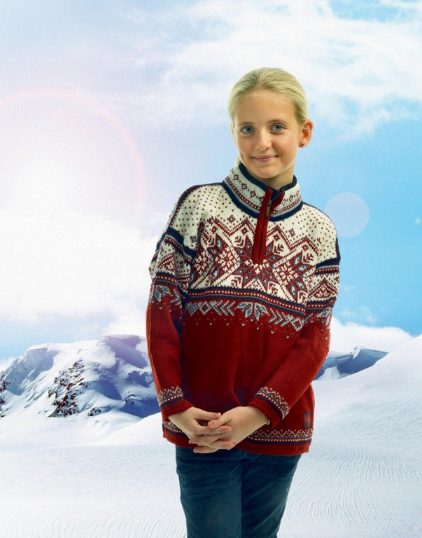 Dětský exkluzivní vlněný norský svetr Dale Vail