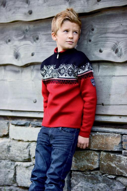 Dětský exkluzivní vlněný norský svetr Dale  St. Moritz